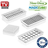 Genius Nicer Dicer Magic Cube Smart | XXL de Set de insertos Cuchillo | 3 piezas | Cortador de...