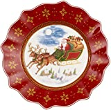 Villeroy und Boch Annual Christmas Edition Jahresteller 2018, 24 cm, Porzellan, Rot