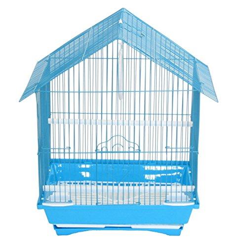 YML a1114mblu House Top Style klein Vogelkäfig für Sittiche, 27,9x 22,9x 40,6cm