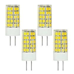MENGS® 4 Stück G4 LED Lampe 6W AC/DC 12V Warmweiß 3000K 63x2835 SMD Mit ACRYLIC und Keramic Material