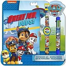 Paw Patrol Set con reloj, diario y bolígrafo (Kids PW16177)