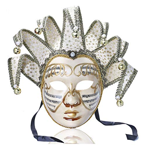 YUFENG Vintage Jolly Joker Venezianische Maske, Kostüm, Halloween, Cosplay, Maske, für Party, Ball, Fasching, Hochzeit, Wanddekoration ()