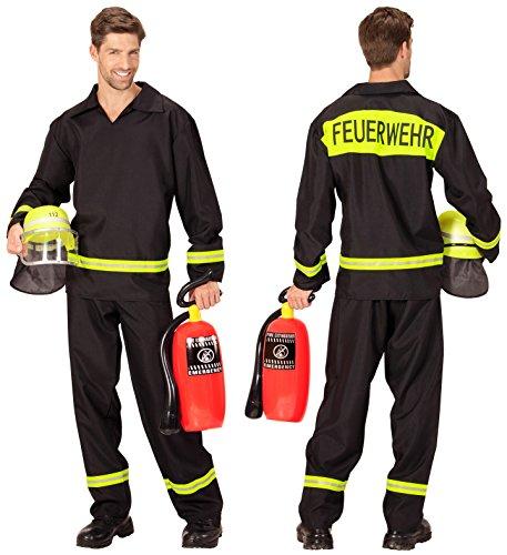 Herren Feuerwehr-Kostüm Grösse L 52/54 Feuerwehr-Mann Feuerwehr-Uniform Hose Jacke Feuerwehr-Helm Feuerlöscher THW Anzug (Kostüme Feuerwehrmann Männer)