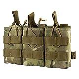 OneTigris Taktische MOLLE AR/AK/AKM Magazintasche Nylon Magazinbeutel für M4/M16/AK47/AK74 (Camo-Verbesserte Version)