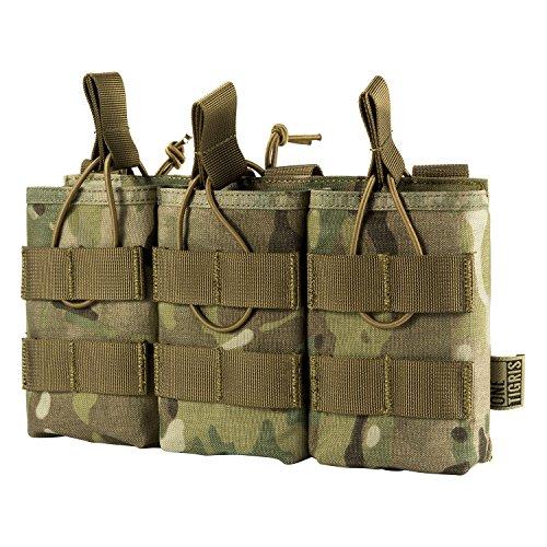 OneTigris Taktische MOLLE AR/AK/AKM Magazintasche Nylon Magazinbeutel für M4/M16/AK47/AK74 (Camo-Verbesserte Version) -