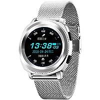 YUNDING Reloj Inteligente, Monitoreo de Llamada/Reposo de Bluetooth/Paso/Monitoreo de