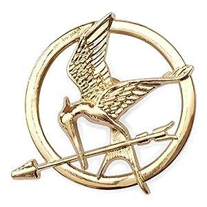 Hunger Games Katniss Mockingjay Gold ton Brosche / Pin