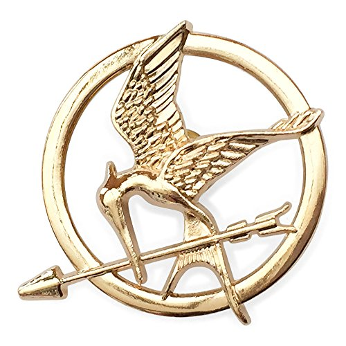 Tribute Fire Catching Kostüm - Hunger Games Katniss Mockingjay Gold ton Brosche / Pin