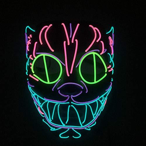 ndustry to Create Cat Head Animal Shape EL Cold Light LED Luminous Mask ()