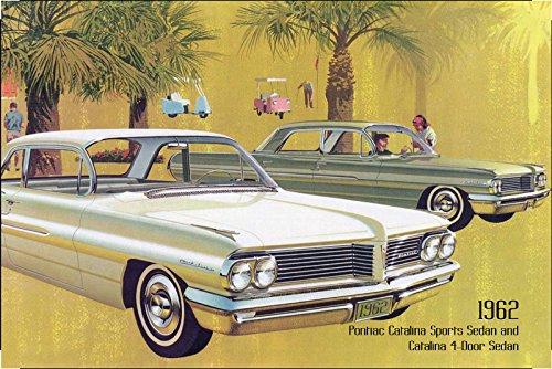 Pontiac Catalina Sports Sedan & 4-Door sedan 1962 Auto reklame blechschild, us (4 Catalina)