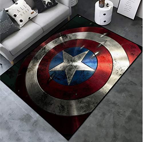 Juan Alfombra De Dibujos Animados Anime Capitán América