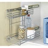WENKO 5931500 armario Duo - bandejas extraíbles para, metal cromado, 22,5 x 43 x 47,5 cm Brillante