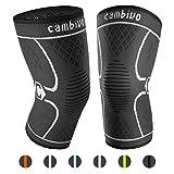 CAMBIVO 2 x Kniebandage, Knieschoner, Kniestütze für Meniskusriss, Arthritis, ACL-Verletzung, Gelenkkrankheiten, Laufen, Wandern