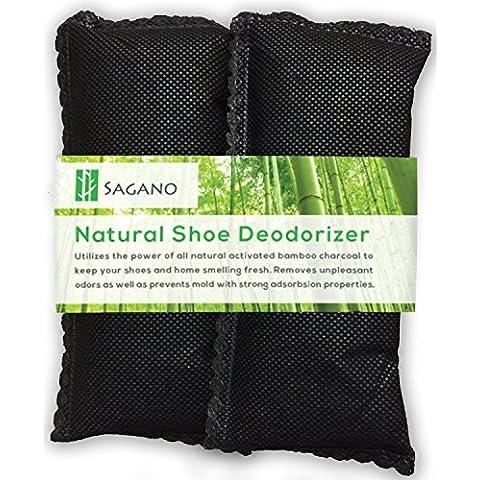 Sagano - El mejor ambientador de carbón activo para zapatos- Evita moho y bacterias–2 unidades