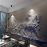 BZDHWWH Große Kundenspezifische Tapeten Fresko 3D 3D Antike Wagen-Entlastung Wand-Wand-Malereien Für Wände 3 D,250cm (H) x 375cm (W)