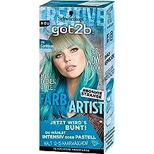 Got2b 096 Caribbean Türkis Farb-Artist Haarfarbe, 3er Pack(3 x 80 ml)