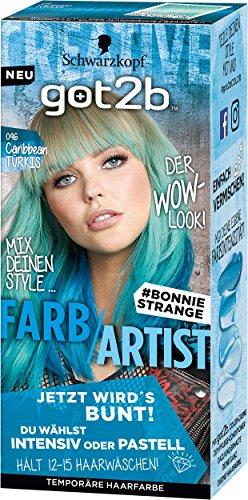 Schwarzkopf Got2b 096 Caribbean Türkis Farb/Artist Haarfarbe, 3er Pack (3 x 80 ml)