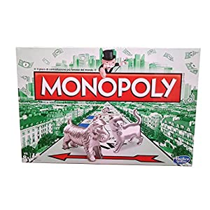 Hasbro Gaming - Monopoly clásico, juego de mesa (00009456) (versión italiana)