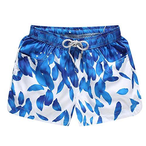 Attends Windeln Für Erwachsene (CHCLH Lose und Bequeme Hosen, Strandhosen für modische HosenSommer Paar Shorts Five Pants Damen Dunkelblau 01 M)