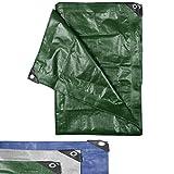immagine prodotto Telone protettivo - verde - 180 g/m² - 600 x 800 (48 m²) - tessuto antistrappo adatto a superfici in legno