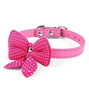 Wilk Mode pour Chien et Chat Chiot Chaton Jouet Nœud Papillon Cravate Collier Vêtements Adorable Rose Rouge 1pièce
