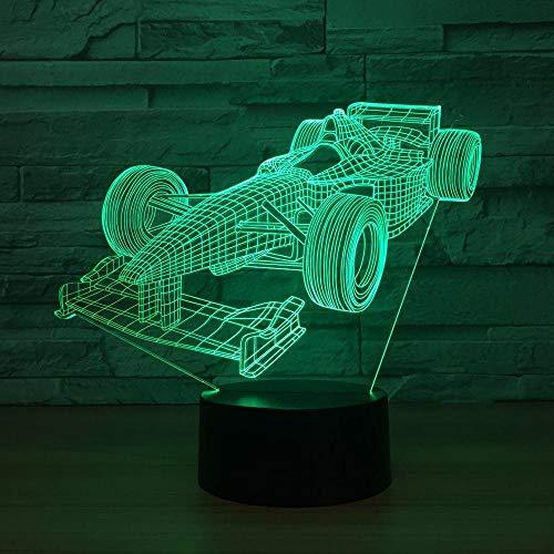 LBDED Neue formel auto 3d lampe 7 farbe led nacht lampen für touch led usb tisch schlafen nachtlicht schiff -