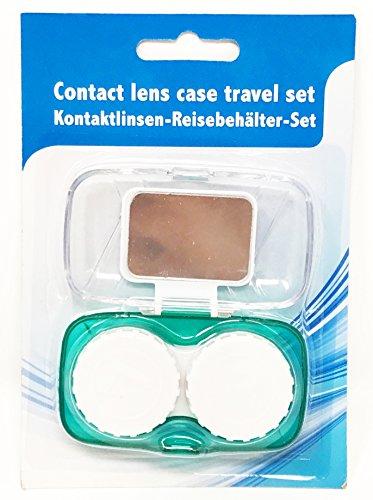 Kontakt-Linsen Etui L R mit Spiegel Aufbewahrungs-Box Set Kunstoff Kontaktlinsen-Behälter Kompakt Mobil Reise-Etui Tages-Linsen Monats-Linsen Jahres-Linsen Kontaktlinsen Box