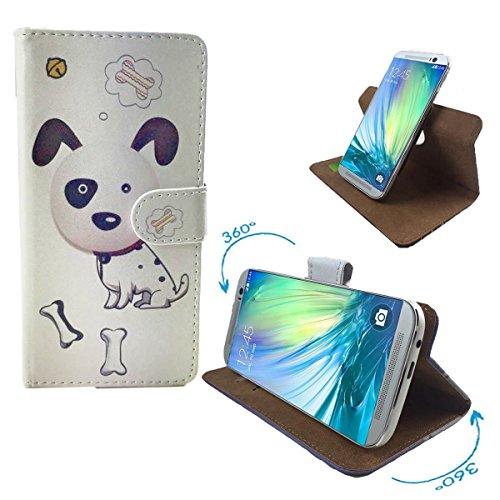 ZTE Kis 3 Max Smartphone Tasche / Schutzhülle mit 360° Dreh und Standfunktion - 360° Hund 2 Nano S