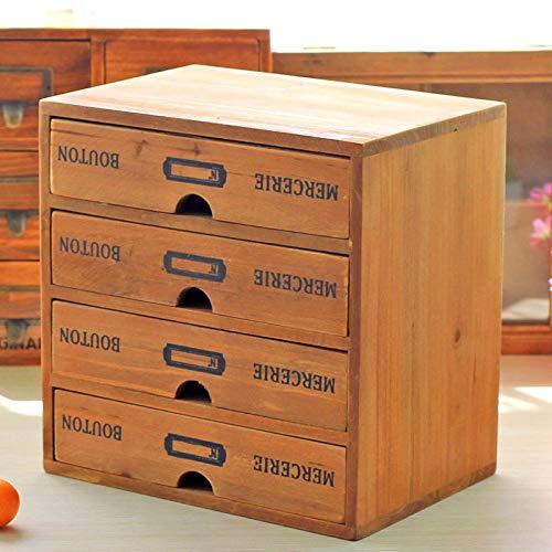 Mzl Hölzerne Desktop Finishing Schublade Storage Box Diverses Office Supplies Lagerung Schränke Schmuck - Schublade Desktop