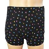 Sharplace Herren Männer Inkontinenzhose Boxershorts Unterhose mit Klettverschluss Bequem Atmungsaktiv Waschbar (Schwarz) - XL