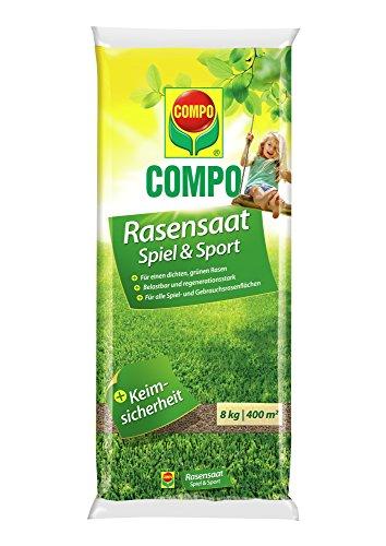 COMPO Rasensaat Spiel und Sport, Universelle Rasenmischung, 8 kg, 400 m²