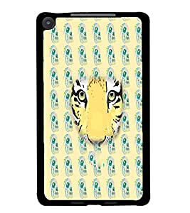 PrintDhaba Tiger Face D-3871 Back Case Cover for ASUS GOOGLE NEXUS 7 2013 (Multi-Coloured)