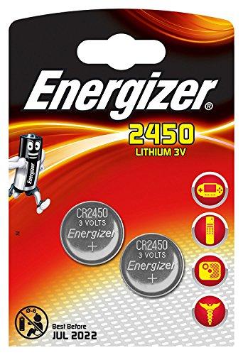 Piles bouton au lithium Energizer 2450, pack de 2