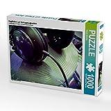Kopfhörer auf Schlagzeugbecken 1000 Teile Puzzle Quer