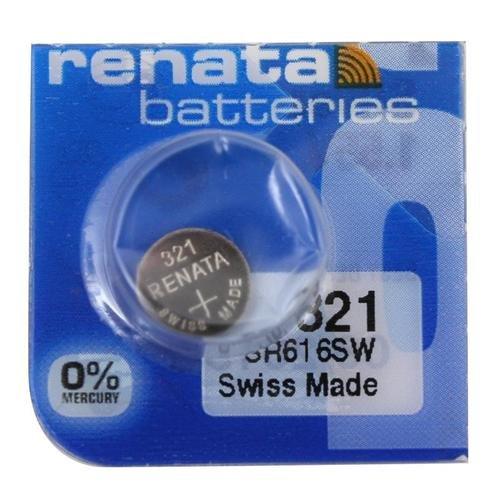 Renata 321 SR616SW 1.55 V sans mercure Oxyde d'argent montre batterie