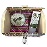 Truhe klein bunt mit Seife Olivenöl und Lippenschutz der Chinata (Pack 24UD)