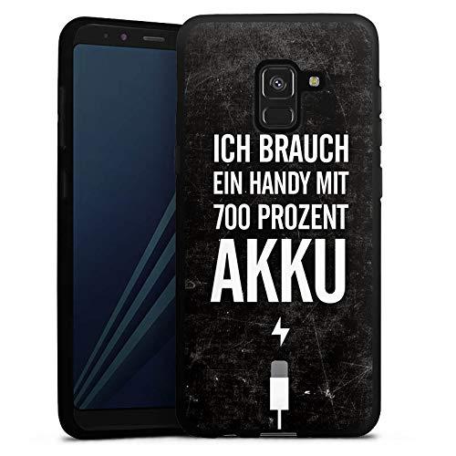 DeinDesign Silikon Hülle kompatibel mit Samsung Galaxy A8 Duos 2018 Case Schutzhülle Akku Handy Phrases