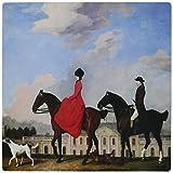 3drose LLC 20,3x 20,3x 0,6cm John und Sophia Musters riding at colwisk Hall von George Stubbs Mauspad (MP _ 129841