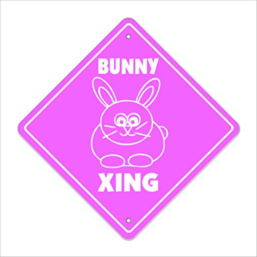 SignMission Bunny Crossing Sign Zone Xing |-| 50,8cm Hoch Kaninchenkäfig Vorräte Fair Contest