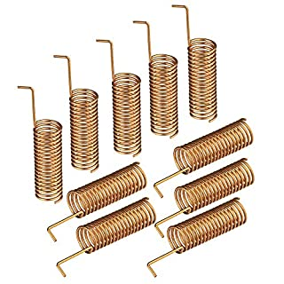 Eightwood Helical Remote Control Antenna 2dBi Helical 10pcs Solder DIY Spring Antenna 433MHz 470MHz 490MHz 510MHz 868MHz for Homematic PCB Kit Wireless Module Antenna