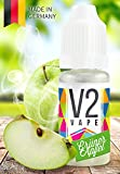 V2 Vape E-Liquid Grüner Apfel - Luxury Liquid für E-Zigarette und E-Shisha Made in Germany aus natürlichen Zutaten 10ml 0mg nikotinfrei