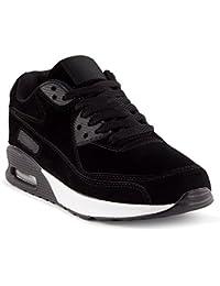 FiveSix Herren Damen Sneaker Sportschuhe Laufschuhe Freizeitschuhe Dämpfung  Velours-Optik Schnürschuhe Low-Top Unisex d63f7bed15