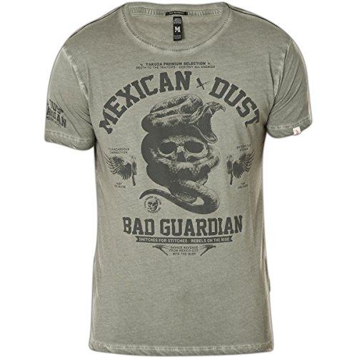 Yakuza Premium T-Shirt Vintage 1 Grau Washed Grau