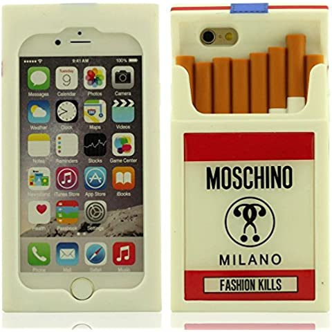 Creativo Diseño 3D Cajas de Cigarrillos Forma Anti choque Silicona Carcasa Protectora Case Funda para Apple iPhone 6 Plus / 6S Plus 5.5