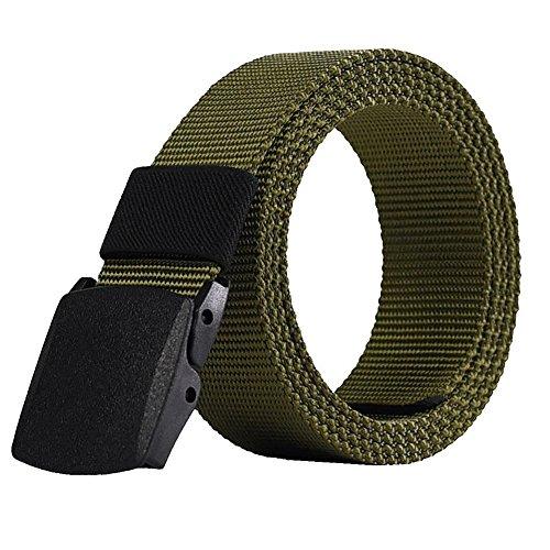 Leisial - Cinturón - para hombre Verde verde