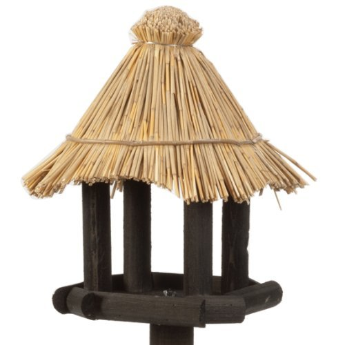 Beeztees 48105 Vogelhaus – Morito aus Holz, 40 x 40 x 140 cm, schwarz - 2