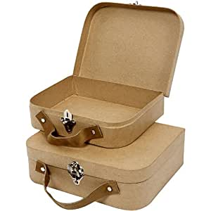 Creativ 22.5 x 18 x 6.55 cm Papier Mache Suitcases 2 Assorted