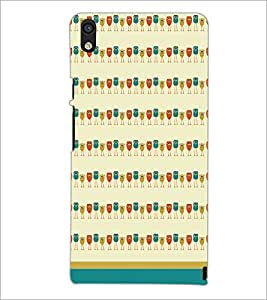 PrintDhaba Owl Pattern D-1702 Back Case Cover for HUAWEI ASCEND P6 (Multi-Coloured)