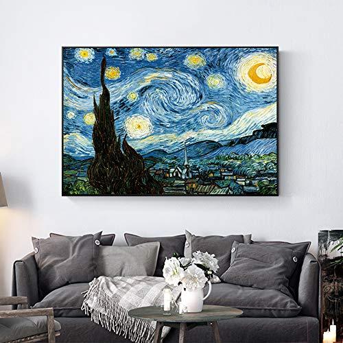 Alicefen Impresionista Van Gogh Noche Estrellada