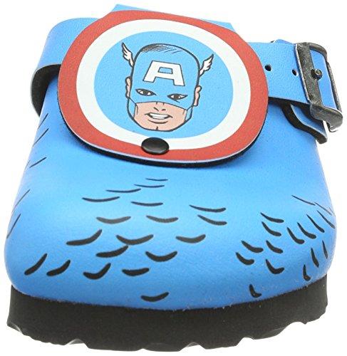Birki Shetland Marvel, Sabots Garçon Bleu (captain America)